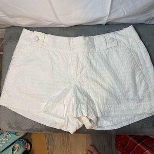 Banana republic white eyelet shorts NWOT